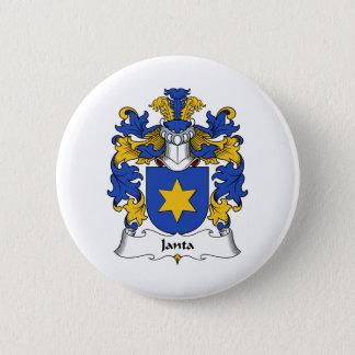 Janta Family Crest 6 Cm Round Badge