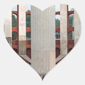 Jantar Mantar, Delhi, India Heart Sticker