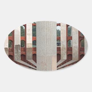 Jantar Mantar, Delhi, India Oval Sticker