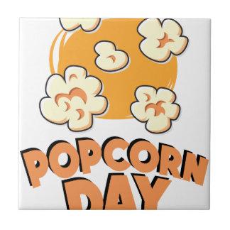 January 19th - Popcorn Day - Appreciation Day Ceramic Tile