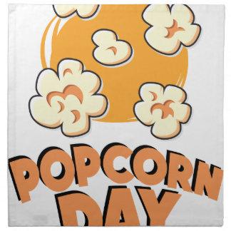 January 19th - Popcorn Day - Appreciation Day Napkin