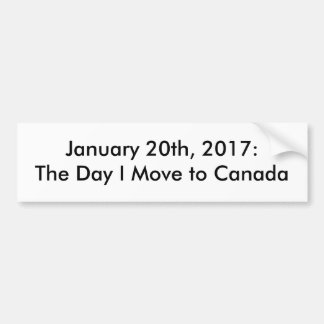 January 20 2017 Political Bumper Sticker