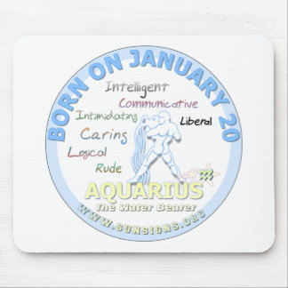 January 20th Birthday - Aquarius Mousepads
