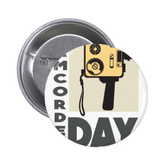 January 20th - Camcorder Day - Appreciation Day 6 Cm Round Badge