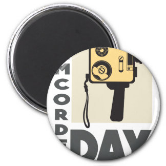 January 20th - Camcorder Day - Appreciation Day 6 Cm Round Magnet