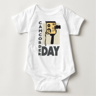 January 20th - Camcorder Day - Appreciation Day Baby Bodysuit