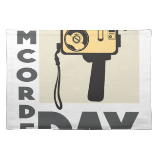 January 20th - Camcorder Day - Appreciation Day Placemat