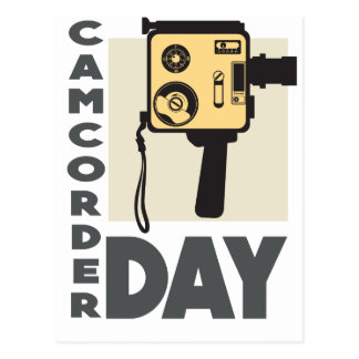 January 20th - Camcorder Day - Appreciation Day Postcard