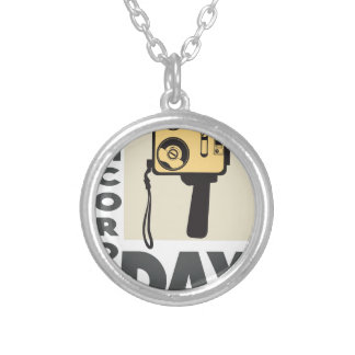 January 20th - Camcorder Day - Appreciation Day Silver Plated Necklace