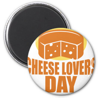 January 20th - Cheese Lovers Day 6 Cm Round Magnet
