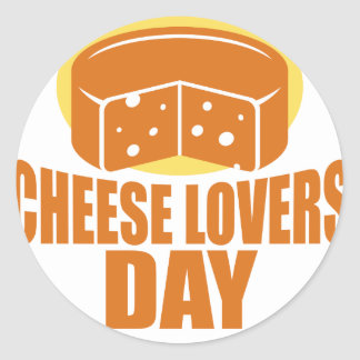 January 20th - Cheese Lovers Day Classic Round Sticker