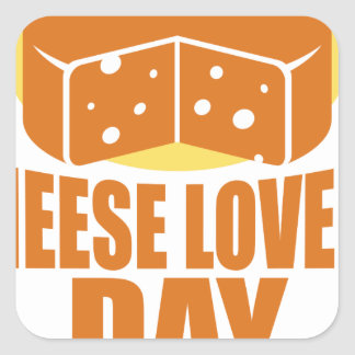 January 20th - Cheese Lovers Day Square Sticker