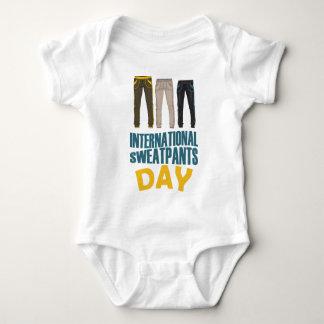 January 21st  - International Sweatpants Day Baby Bodysuit