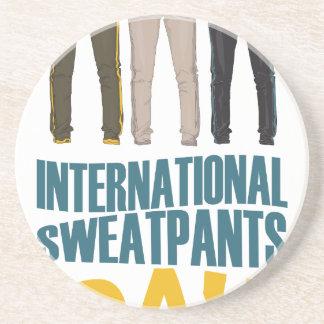 January 21st  - International Sweatpants Day Coaster