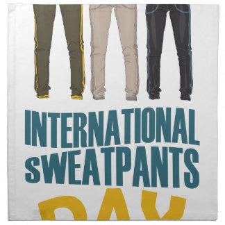 January 21st  - International Sweatpants Day Napkin