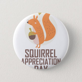 January 21st - Squirrel Appreciation Day 6 Cm Round Badge