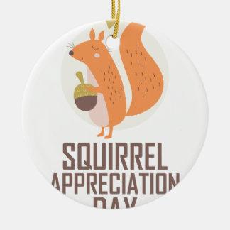 January 21st - Squirrel Appreciation Day Ceramic Ornament