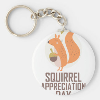 January 21st - Squirrel Appreciation Day Key Ring