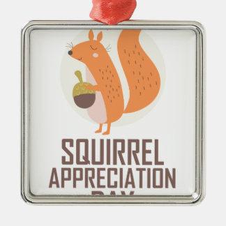 January 21st - Squirrel Appreciation Day Metal Ornament