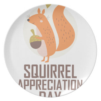 January 21st - Squirrel Appreciation Day Plate