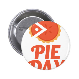 January 23rd - Pie Day - Appreciation Day 6 Cm Round Badge