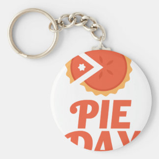 January 23rd - Pie Day - Appreciation Day Basic Round Button Key Ring