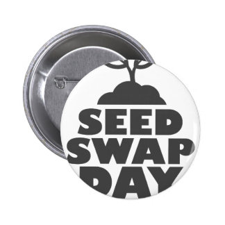 January 28th - Seed Swap Day - Appreciation Day 6 Cm Round Badge