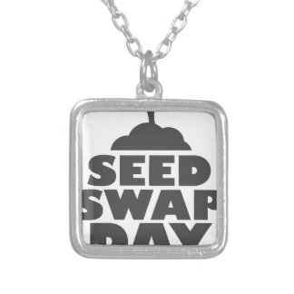 January 28th - Seed Swap Day - Appreciation Day Silver Plated Necklace