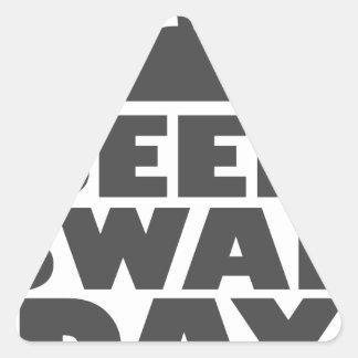 January 28th - Seed Swap Day - Appreciation Day Triangle Sticker