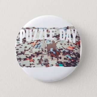 January 29th - Puzzle Day - Appreciation Day 6 Cm Round Badge