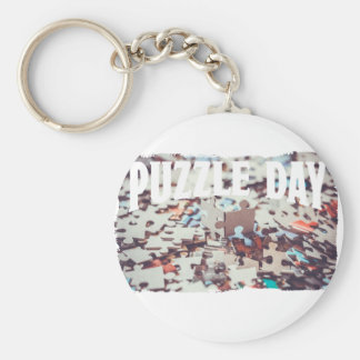 January 29th - Puzzle Day - Appreciation Day Basic Round Button Key Ring
