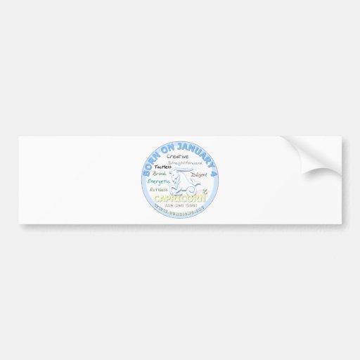 January 4th Birthday - Capricorn Bumper Sticker