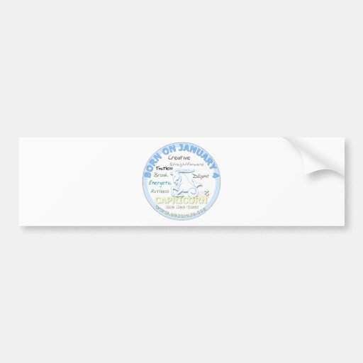 January 4th Birthday - Capricorn Bumper Stickers