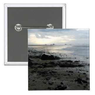 January Beach 15 Cm Square Badge