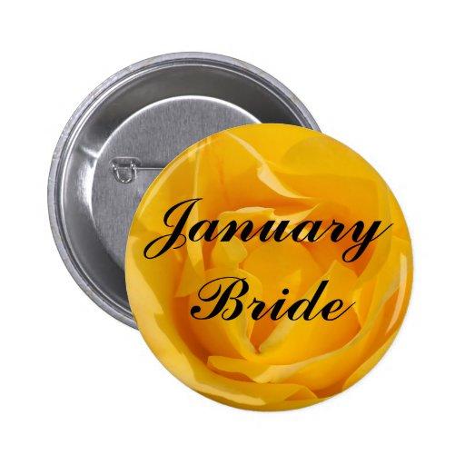 January Bride Button