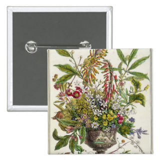 January, from `Twelve Months of Flowers' 15 Cm Square Badge