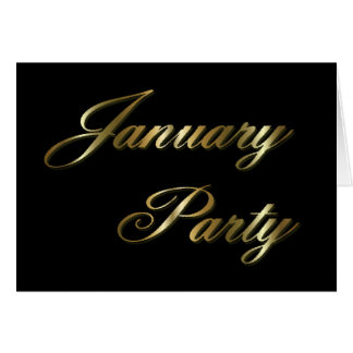 january party invitation greeting card