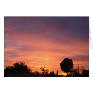 January Sunset Tucson Arizona Greeting Card