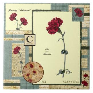 January's Flower Tile