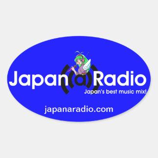 Japan-A-Radio Oval Stickers! Oval Sticker