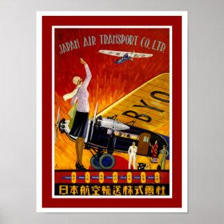 Japan Air Transport Poster