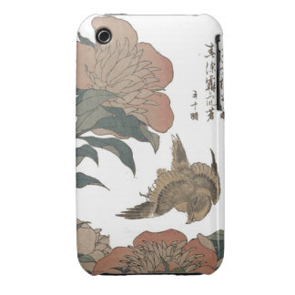 Japan:  Bird Among Flowers Case-Mate iPhone 3 Case