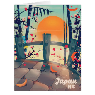 Japan Blossom vacation poster Japan Blossom Card