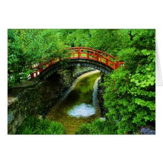 Japan Bridge Greeting Card