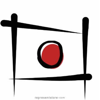Japan Brush Flag Standing Photo Sculpture