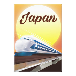 Japan Bullet Train travel poster Canvas Print