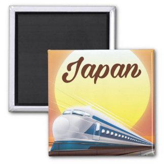 Japan Bullet Train travel poster Square Magnet