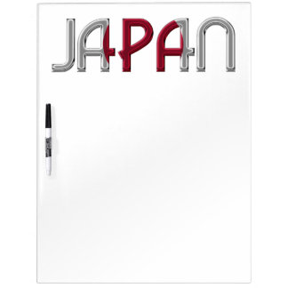 Japan Country Japanese Flag Colors Typography Dry Erase Board