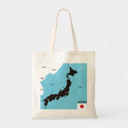 japan country political map flag tote bag