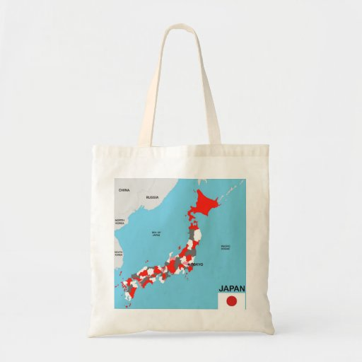 japan country political map flag tote bags